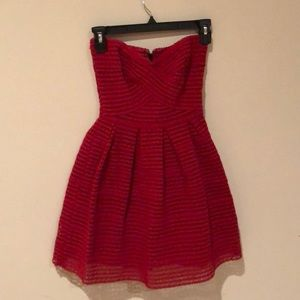 Forever 21 Sleeveless Red Cocktail Dress sz  Small